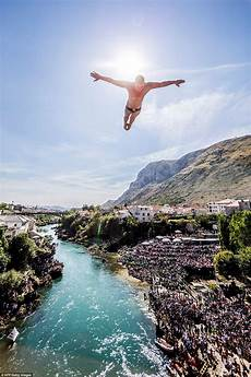 2016 red bull cliff world series reaches climax in mostar daily mail online