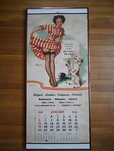 vintage gil elvgren pin up calendrier 1958 pinup gil etsy