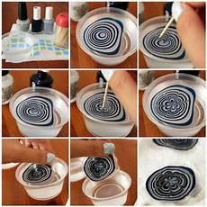 nageldesign mit wasser und nagellack marmorn 228 gel selber