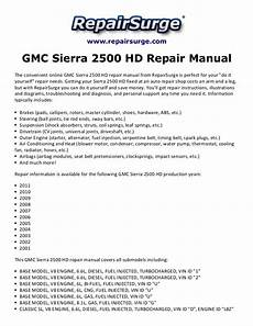 motor repair manual 1999 gmc 3500 user handbook gmc sierra 2500 hd repair manual 2001 2011