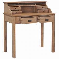Urban Lifestyle Schreibtisch 90 215 50 215 100 Cm Massivholz Teak