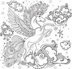 Malvorlagen Unicorn Unicorn Unicorn Line Drawings Illustrations Royalty Free Vector