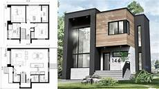 Modernes Einfamilienhaus Grundriss - small modern house 30x31 with interior