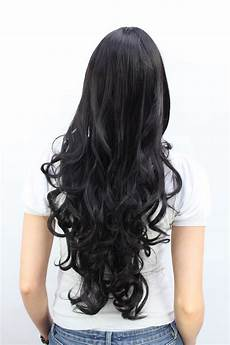 lange schwarze haare schwarze damen per 252 cke sehr lang haare pony lockige