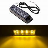 2pcs 18 Flashing Modes 4 LED Strobe Warning Light Car
