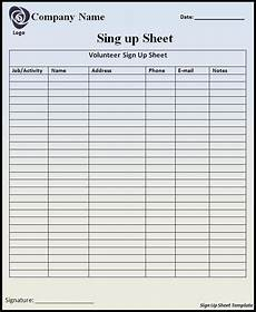 sign up sheet template professional word templates