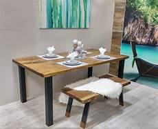 Table De Cuisine Sur Mesure Bois Et Bois M 233 Tal Table 224 D 238 Ner