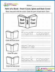 worksheets by subject parts of a book vocabulary cards concepts of print