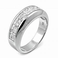 sterling silver invisible cz channel wedding