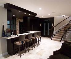 lower level bar contemporary living room detroit