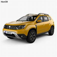 dacia duster 2018 3d model vehicles on hum3d