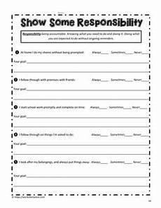 responsibility worksheet worksheets