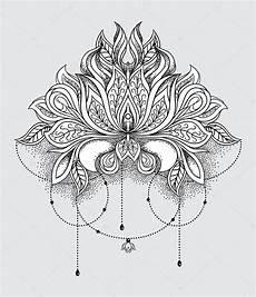 disegni fiore di loto beautiful ornamental lotus flower ethnic