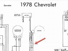1978 chevy starter wiring 1978 wiring question checking the diagram was bubba here corvetteforum chevrolet