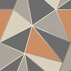 Grey And Burnt Orange Wallpaper decor apex geo burnt orange wallpaper fd42002