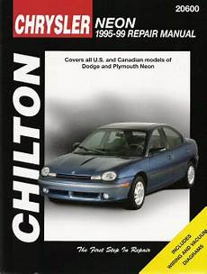 small engine repair manuals free download 1999 plymouth breeze transmission control 1995 1999 dodge plymouth neon chilton s total car care manual