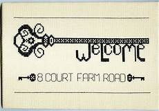 welcome to my home cross stitch kit by stitchkits notonthehighstreet com