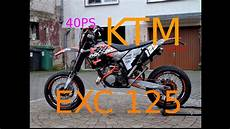 my ride with a ktm exc 125 supermoto