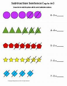 subtraction sentences first grade math worksheets