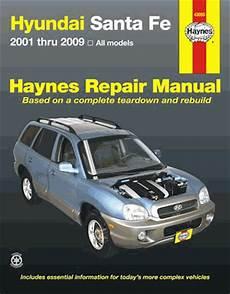 old car manuals online 2001 hyundai santa fe hyundai santa fe repair workshop manual 2001 2009 haynes 43050
