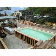 piscines en kit kit piscine enterree ossature bois