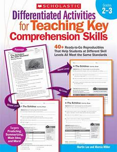 scholastic differentiated activities for comprehension