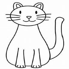 easy cat coloring pages at getcolorings free