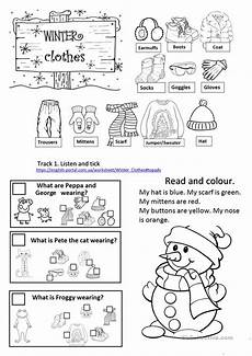 winter clothes worksheets 19966 winter clothes worksheet with listening reading speaking tasks esl worksheets for