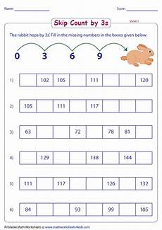 skip counting in 3 s worksheets 11936 skip counting by 3s worksheets