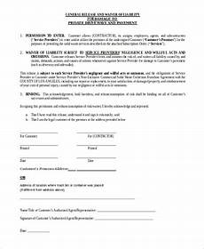 free 7 sle liability waiver forms in ms word pdf