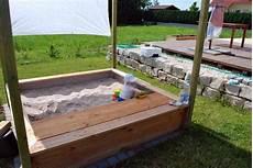 sandkasten aus douglasie bauanleitung zum selberbauen