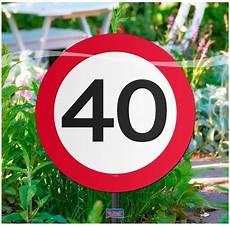 dekoration 40 geburtstag garten dekoration f 252 r den 40 geburtstag gr 246 223 e 26cm