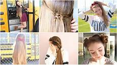 5 quick n easy back to school heatless hairstyles youtube