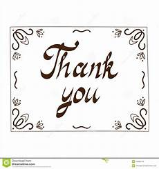 thank you card to template thank you card template stock vector illustration of give
