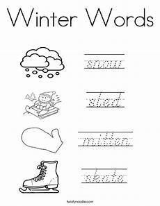 winter words worksheets 20121 winter words coloring page twisty noodle