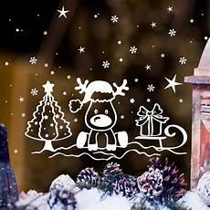 Fensterbilder Weihnachten Vorlagen Rentier Kinderzimmerdekoration Aufkleber Fensterbild Elch