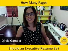 how many pages should my executive resume be career