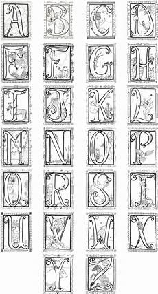 Malvorlagen Mittelalter Buchstaben Illuminated Alphabet Coloring Poster 8 00 Via Etsy