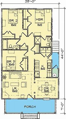 single level house plans classic single story bungalow 10045tt architectural