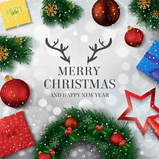 merry christmas and happy new year background vector premium download