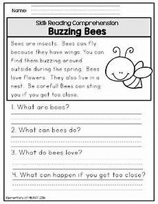close reading comprehension printable worksheets spring by elementary at heart