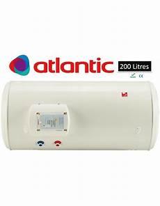 chauffe eau horizontal mural 200 litres atlantic blind 233 023120