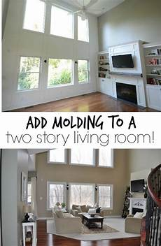 adding molding to a wall living room remodel living