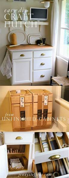 Kitchen Craft Cabinets Home Depot by Easy Diy Craft Hutch 200 Weekend Project So Easy Made