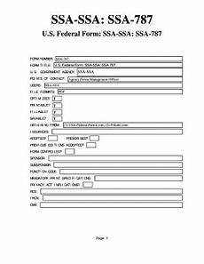 how to fill out ssa 787 printable form templates to