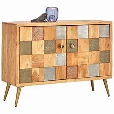 sideboard akazie sideboard akazie teilmassiv lackiert braun grau gr 252 n