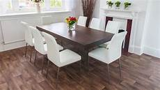 Wood Funky Dining Set Glass Legs And Chunky Table