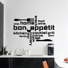 stickers ecriture pour cuisine sticker citation cuisine home bon app 233 food wine