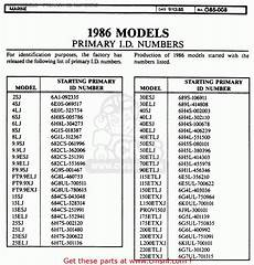 Suzuki Parts Lookup by Yamaha Outboard Primary Id Usa Only 1984 1998 1986