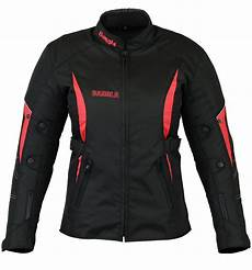 motorradjacke damen textil jacke schwarz rot s m l